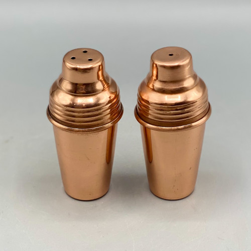Copper Finish Salt & Pepper Cocktail Shakers