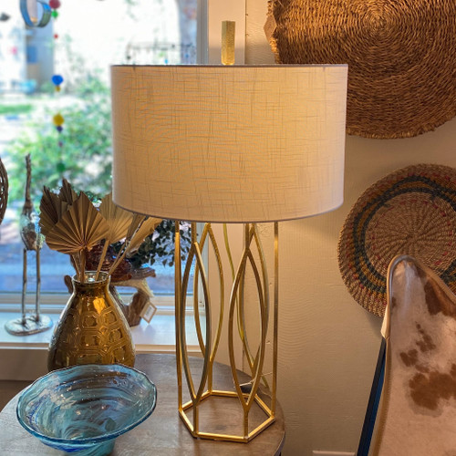 Gold Global Table Lamp