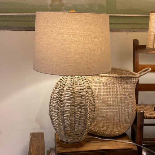 Paxton Wicker Woven Table Lamp