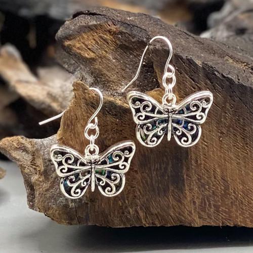 Abalone Butterfly Earrings