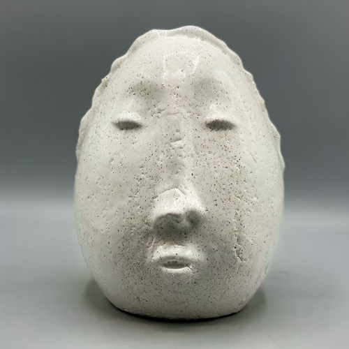 Terra Cotta White Glaze Face
