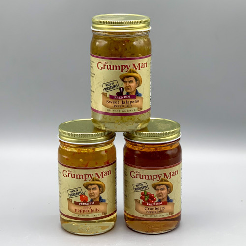 The Grumpy Man Pepper Jelly, Made in MS