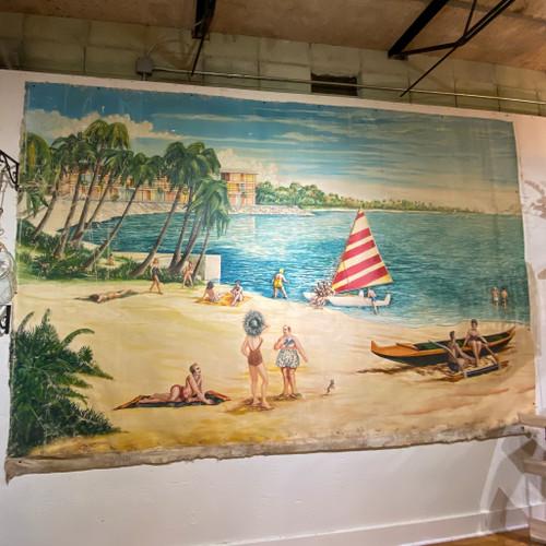 Beach Scene #2 Canvas Mural, Kuper '48