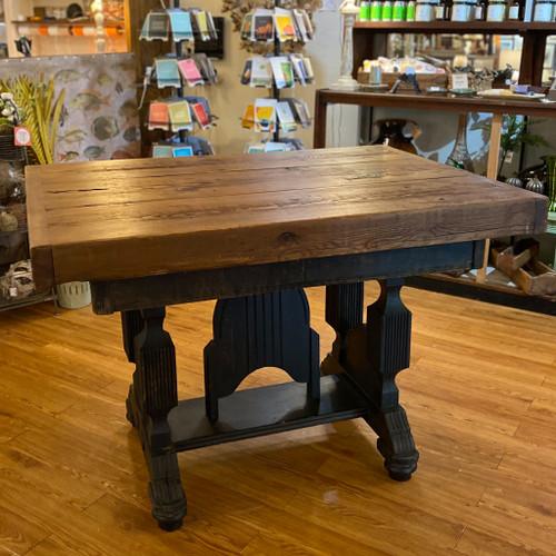 Vintage Table w/Wood Beam Top