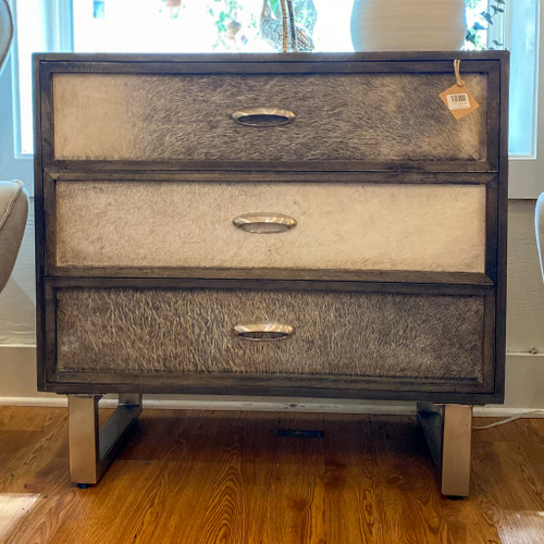 3 Drawer Cowhide Chest