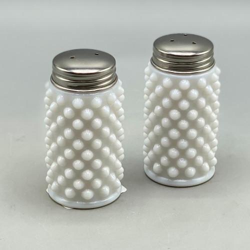 Milk Glass Hobnail Salt & Pepper Shakers