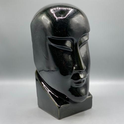 Art Deco Crackled Ceramic Face