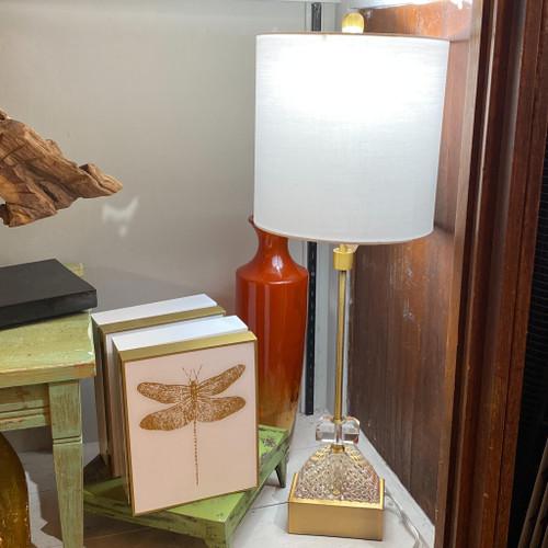 Diamond Cut Crystal Buffet Lamp