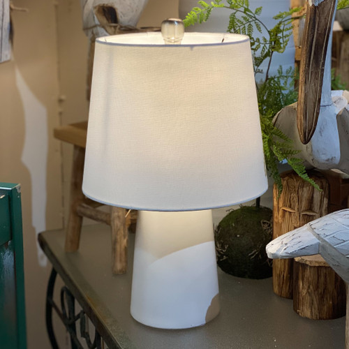 White Ceramic A-line Lamp