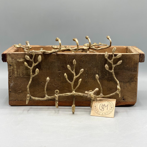 Antique Brass Twig Key Hook