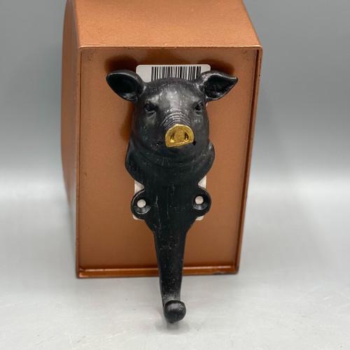 Cast Pewter Pig Hook