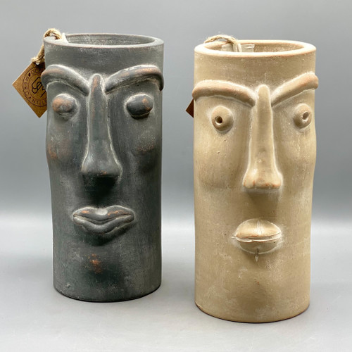 Clay Face Vase
