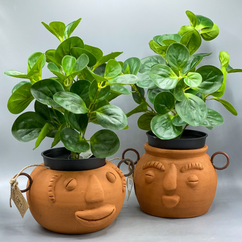 Funky Face Clay Planter
