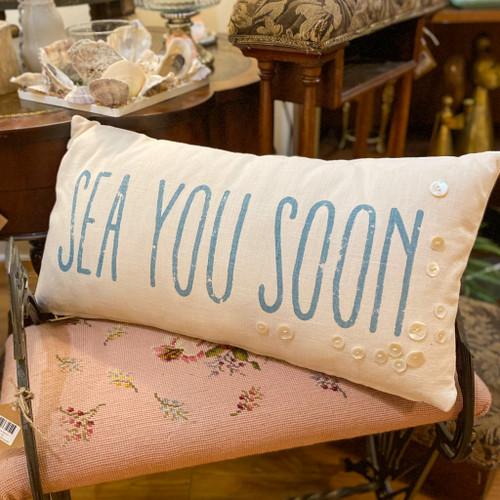 Sea You Soon Lumbar Pillow