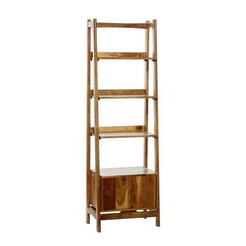 Wood Ladder Shelf w/Door