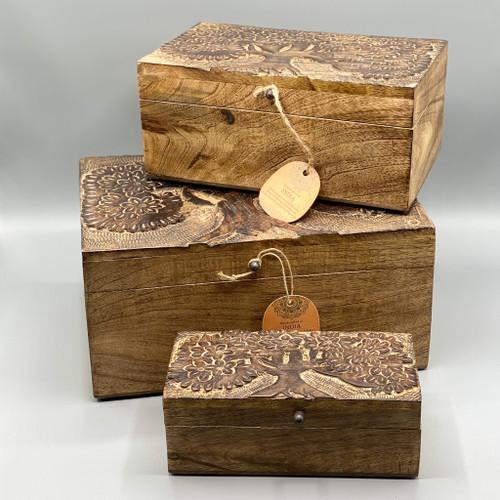 Wood Tree Box