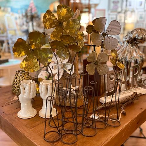 Metal Flowers Table Decor