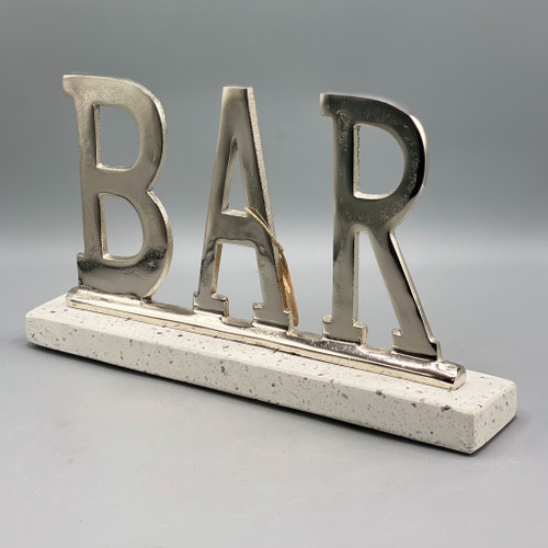 Aluminum Bar Terrazo Sign
