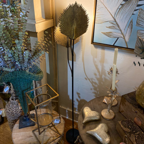 Floor Lamp w/Antique Gold Leaves