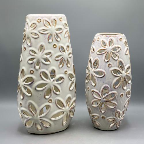 Open Floral Ceramic Vase