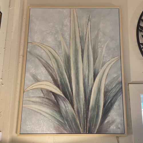Wood Framed Plant Canvas