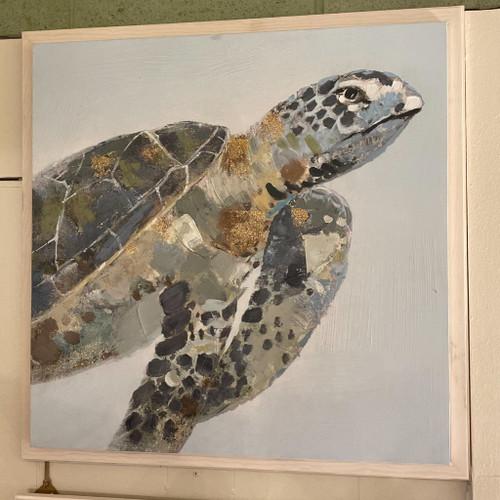 Sea Turtle II Canvas on Wood Frame
