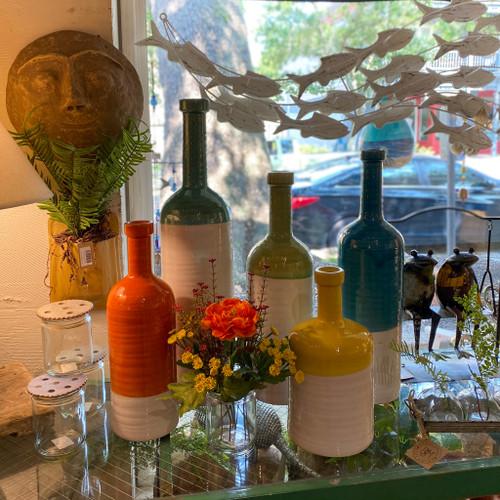 Bottleneck Colorful Ceramic Vase