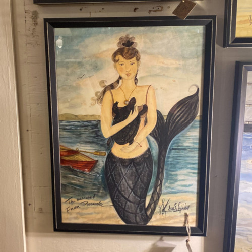 Mermaid from Pocomoke Wall Art