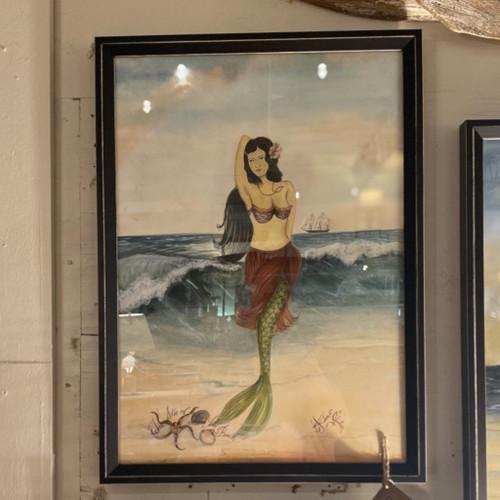 Star of the Beach Mermaid Wall Art