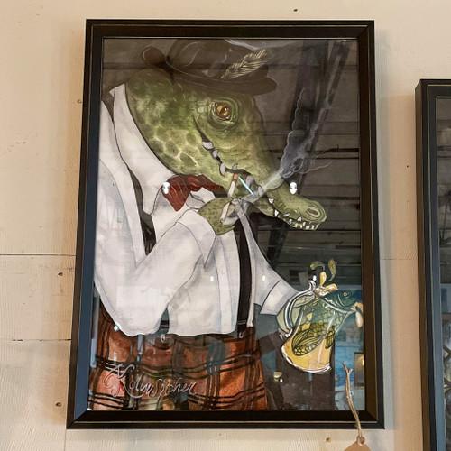 Alligator Frank w/the Fish Float