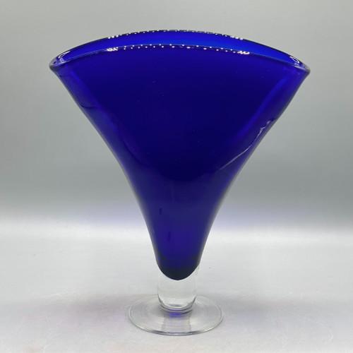 Vintage Cobalt Tulip Vase