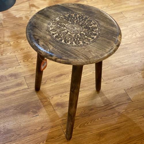 Mango Wood Round Tripod Table
