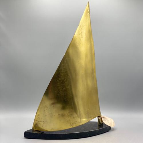 Marble Aluminum Sailboat Sculpture