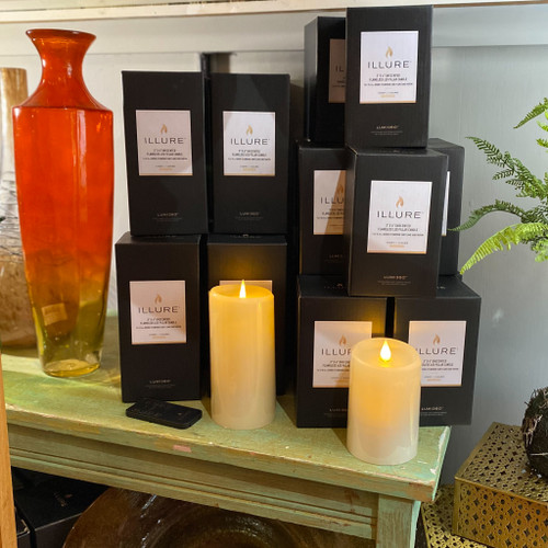 Ivory Wax Flameless Pillar Candle