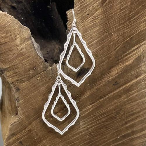 Silver Moroccan Shape Earrings