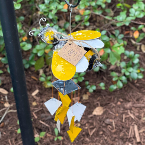 Honey Bee Recycled Oil Drum Wind Chime