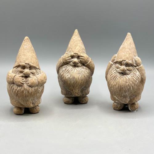 Cement Hear Speak See No Evil Gnomes