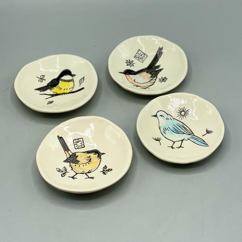 Hand Painted Bird Dish