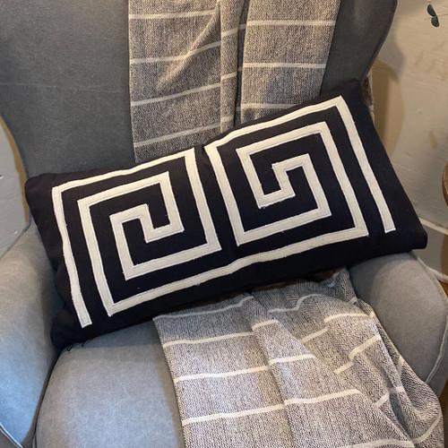 Black & White Lumbar Pillow