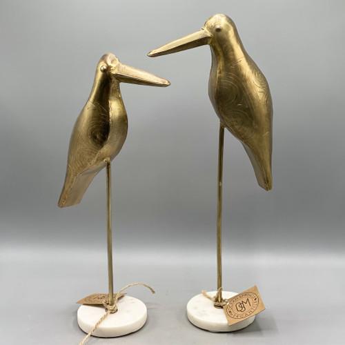 Brass Bird on Marble Base