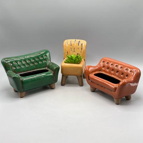 Ceramic Sofa/Chair Planter