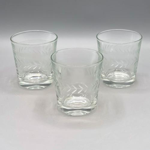 Cocktail Glass w/Cut Design