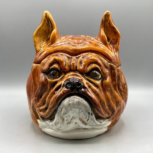Vintage Bulldog Cookie Jar, Italy