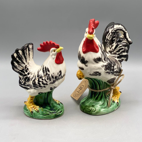 Pair of Decorative Chickens, Japan