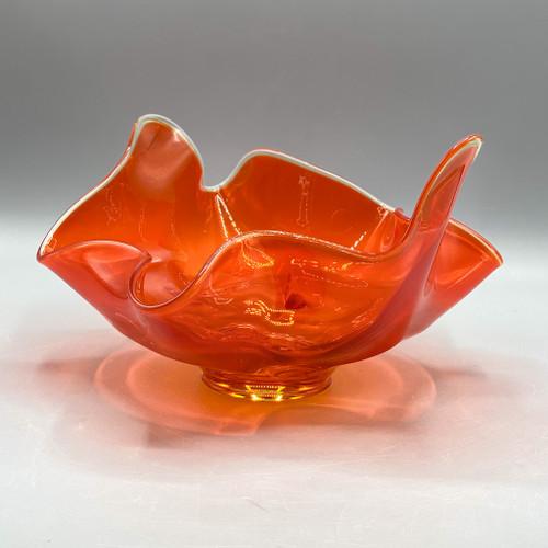 1950s Rigoletto Design Blown Glass Bowl