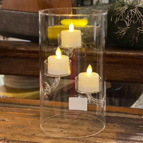 Triple Suspended Glass Tealight Hurricane