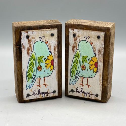 Be Happy Bird Happy Block