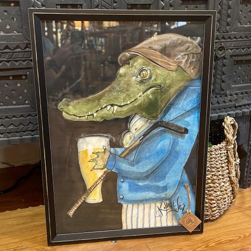 Alligator Gunther the Golfer Wall Art