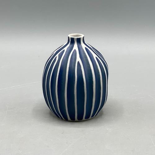 Blue & White Stripe Vase