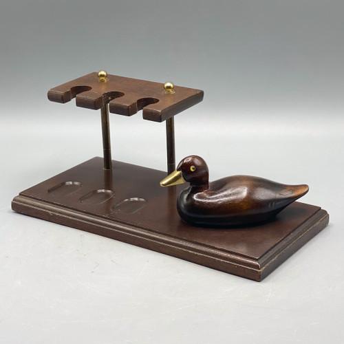 Wooden Duck Pipe Holder